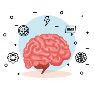 health brain with creative mind and intelligence vector illustration